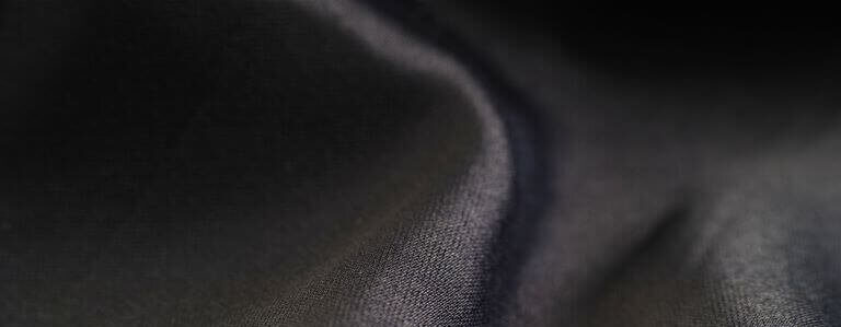 Close up black cloth material