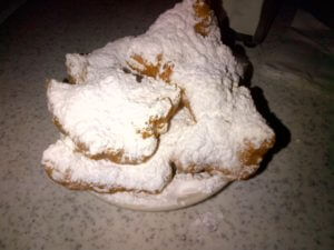 Close up of Cafe Du Monde Beignets in New Orleans