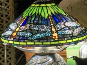 Dragonfly Tiffany Lamp at the French Quarter Wedding Chapel in New Orleans