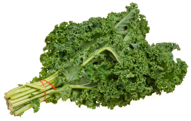 A close up of fresh raw kale for an ingredient article about the superfood vegetable appearing in new products, juices and salads