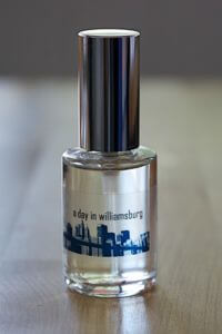 """A Day in Williamsburg"" perfume made by Takasago for WFFC trend excursion"