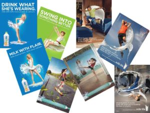 Milk print ads for Fairlife Purely Nutritious Milk, Milk Life and Schick Hydro Silk