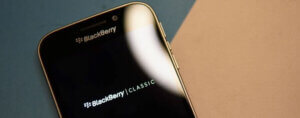 Close up of Blackberry Classic Smartphone