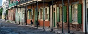 A quiet street in the French Quarter, New Orleans